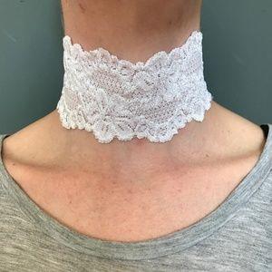White Lace Choker Necklace